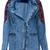 ROMWE | ROMWE Ethnic Seamed Long-sleeved Denim Cowboy Jacket, The Latest Street Fashion