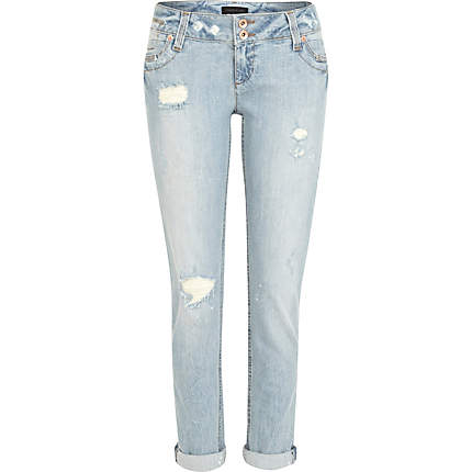 Image result for light ripped jeans