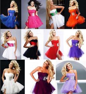 Short Cocktail Dress Prom Ball Evening Party Dress Stock Size 6 8 10 12 14 16 18 | eBay
