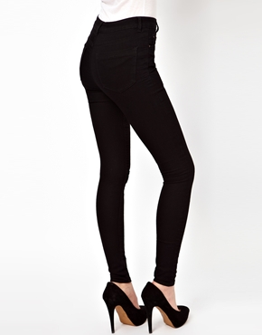 ASOS | ASOS Ridley High Waist Ultra Skinny Jeans in Clean Black at ASOS