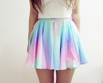 skirt rainbow pink blue multicolor skirt circle skirt clothes pastel tie dye top rainbow shorts skorts rainbow skirt pastel rainbow cute short skirt multicolor rainbows shirt