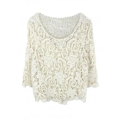 Floral Waves Crochet Top