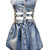 Hook & Sling Denim Skater Dress in Acid Wash - PressPlay Fashion Australia