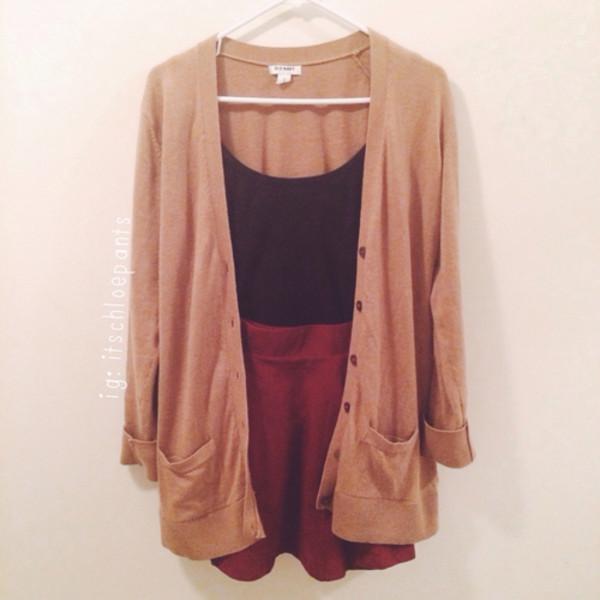 skirt cardigan skirt crop tops