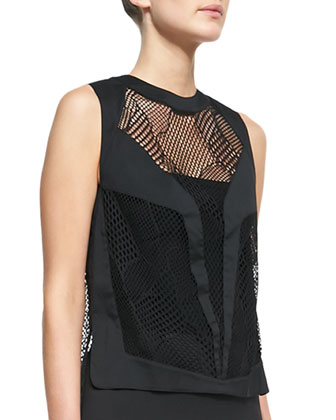 Robert Rodriguez Tribal Knit-Insert Tank Top
