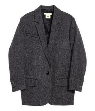 coat clothes isabel marant isabel marant h&m collection isabel marant pour h&m isabel marant h&m gris laine blazer oversized hiver manteau grey oversized jacket
