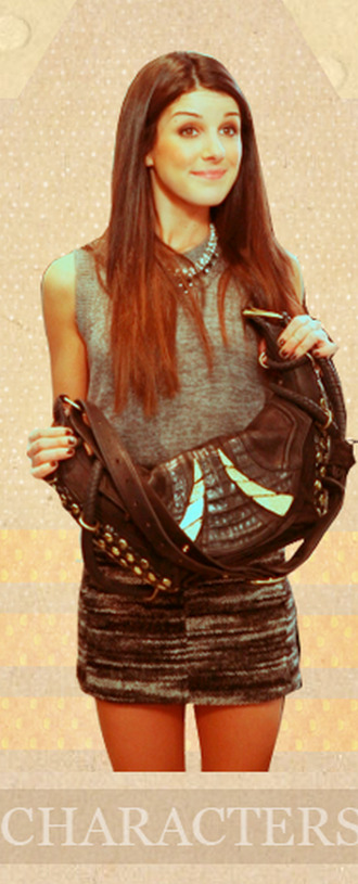 top skirt necklace shenae grimes 90210 annie wilson bag