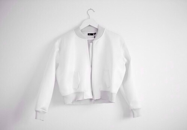 jacket crop white crop tops cropped jacket cropped white modern chic cool
