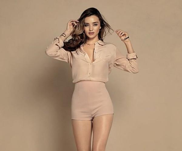 miranda kerr shorts blouse