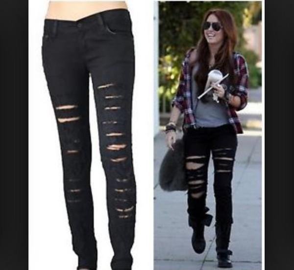 jeans ripped jeans black jacket