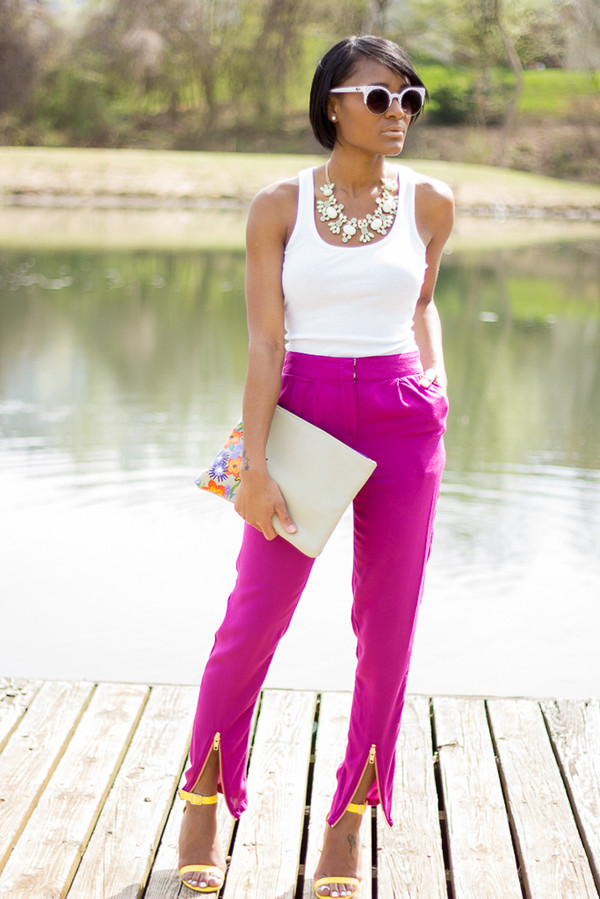 the daileigh tank top pants bag jewels sunglasses shoes