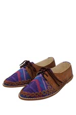 Siqua Lace-up Loafers (Purple) | Ylla Shoes | Ylla Shoes