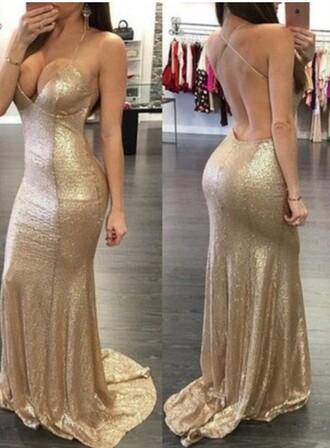 dress gold sequins gold long dress