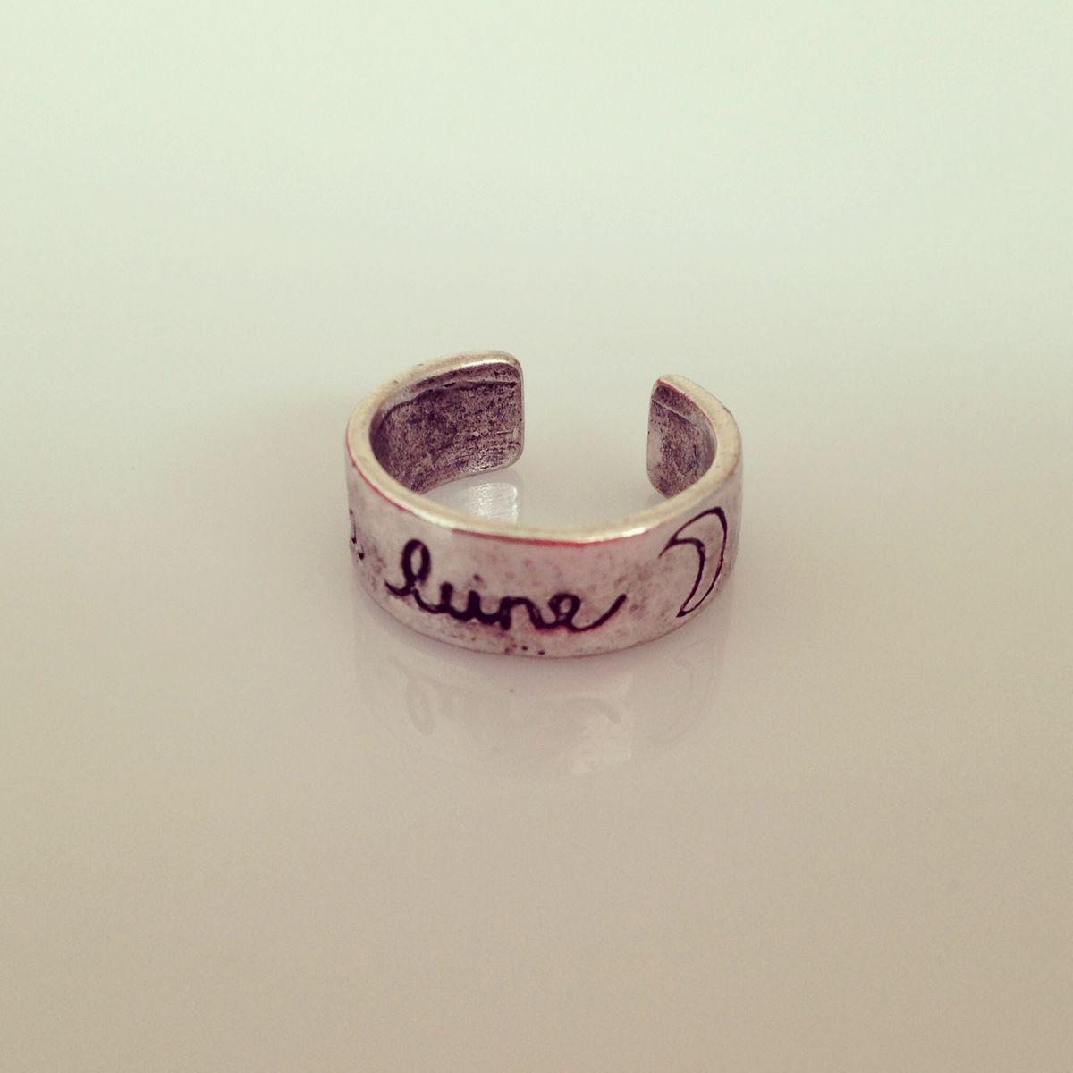 La Lune Midi Ring - ✝ ☪ ☯ ▲ Dollface London Online Jewellery Boutique ▲ ☯ ☪ ✝