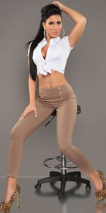 ♕ Sexy ❤ High Waisted Skinny Stretchy Trousers ❤ in Cappuccino ❤ ♕ | eBay