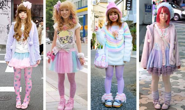 skirt fairy kei pastel kawaii cute clothes japanese fashion korean fashion tights lolita retro 90s style sweater socks