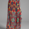 Alice   olivia miabella wrap slit maxi skirt in tribal diamond - high waisted