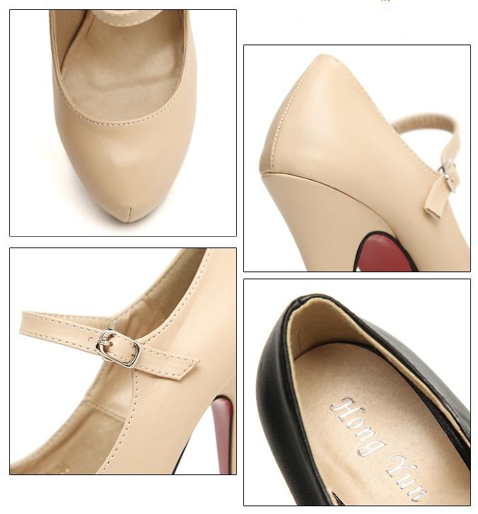 Wholesale Fashion pumps buckle sweet generous girls shoes CZ-5007 - Lovely Fashion