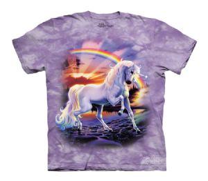 Rainbow Unicorn The Mountain Printed T-Shirts