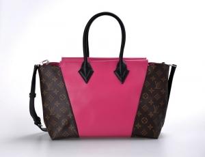 Louis Vuitton W bag PM Monogram Canvas Leather M40940 Rose Top Quality