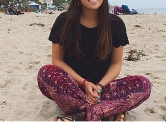 pants cute comfy purple burgundy marroon red comfy pants indy hippie lounge pants hippie pants