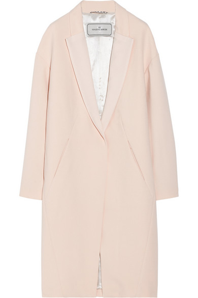 By Malene Birger|Fiurica oversized satin-trimmed piqué coat|NET-A-PORTER.COM