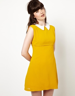 Pop Boutique | Pop Boutique Coco Sleeveless Dress with Collar at ASOS