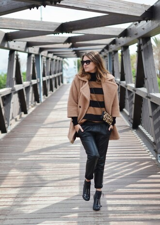my daily style sweater pants coat shoes bag sunglasses jewels