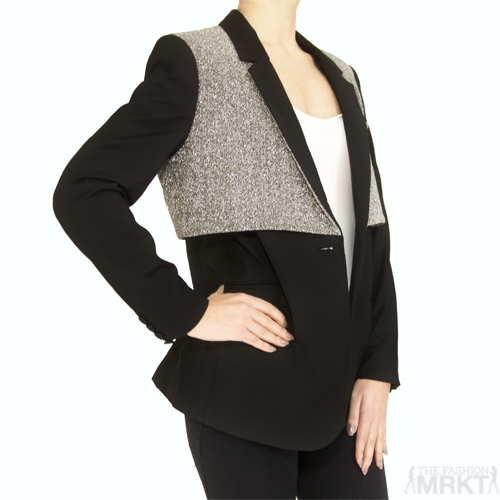 Elizabeth and James Black Double Rex Blazer / TheFashionMRKT