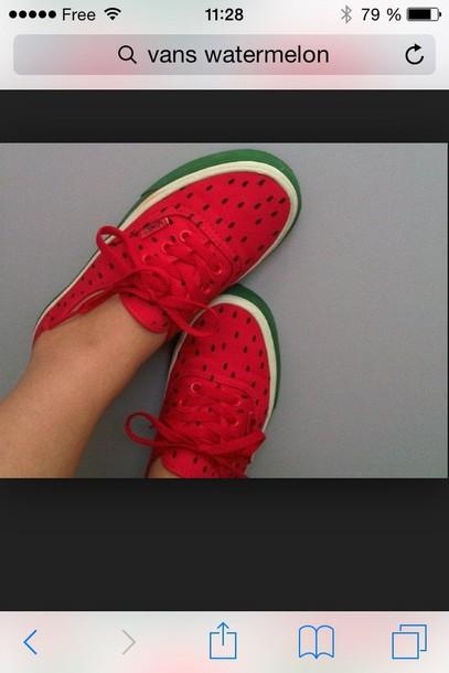 sneakers watermelon print shoes