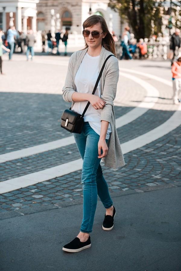 katiquette jeans shirt cardigan bag