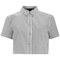 Marc by marc jacobs women's button up crop shirt - gunmetal multi womens clothing - free uk delivery over £50