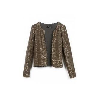 jacket paillettes gilet veste cardigan noir gris