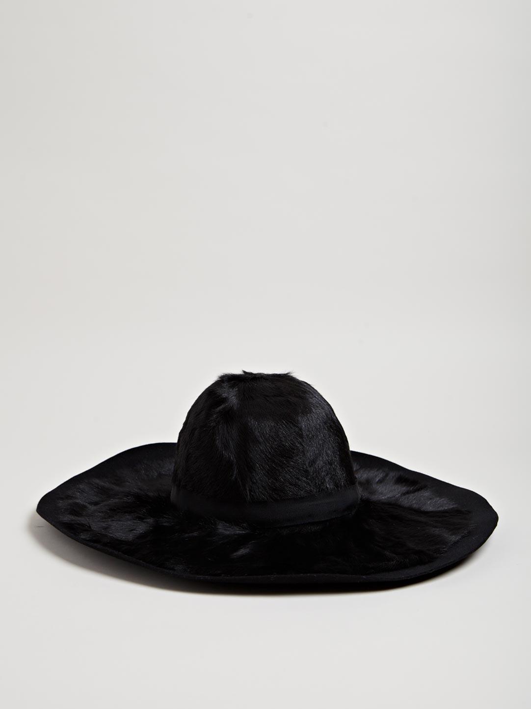 Lanvin Women's Rabbit Fur Wide Rim Hat | LN-CC