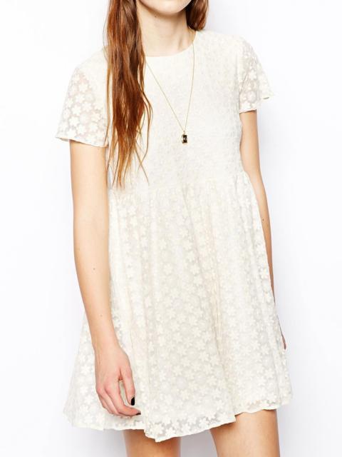 Daisy Print Lace Dress | Choies