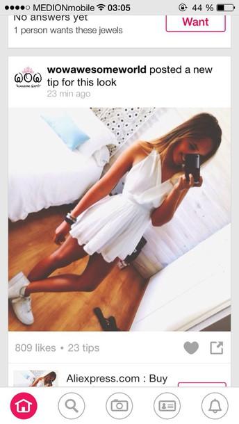 dress white dress summer dress girl