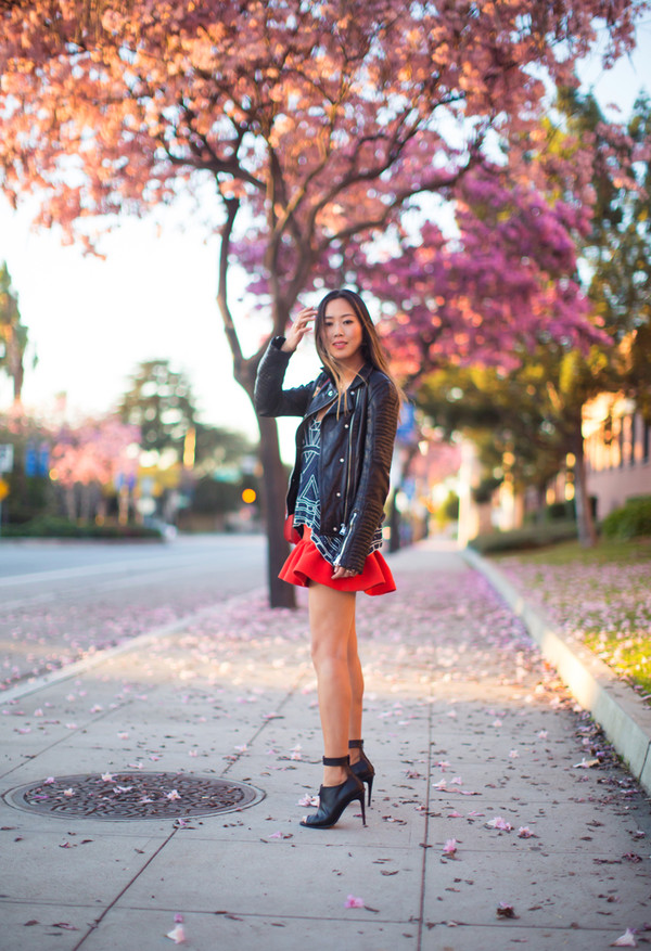 song of style jacket skirt shoes