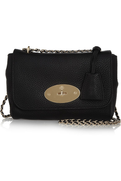 Mulberry Lily grained-leather shoulder bag NET-A-PORTER.COM