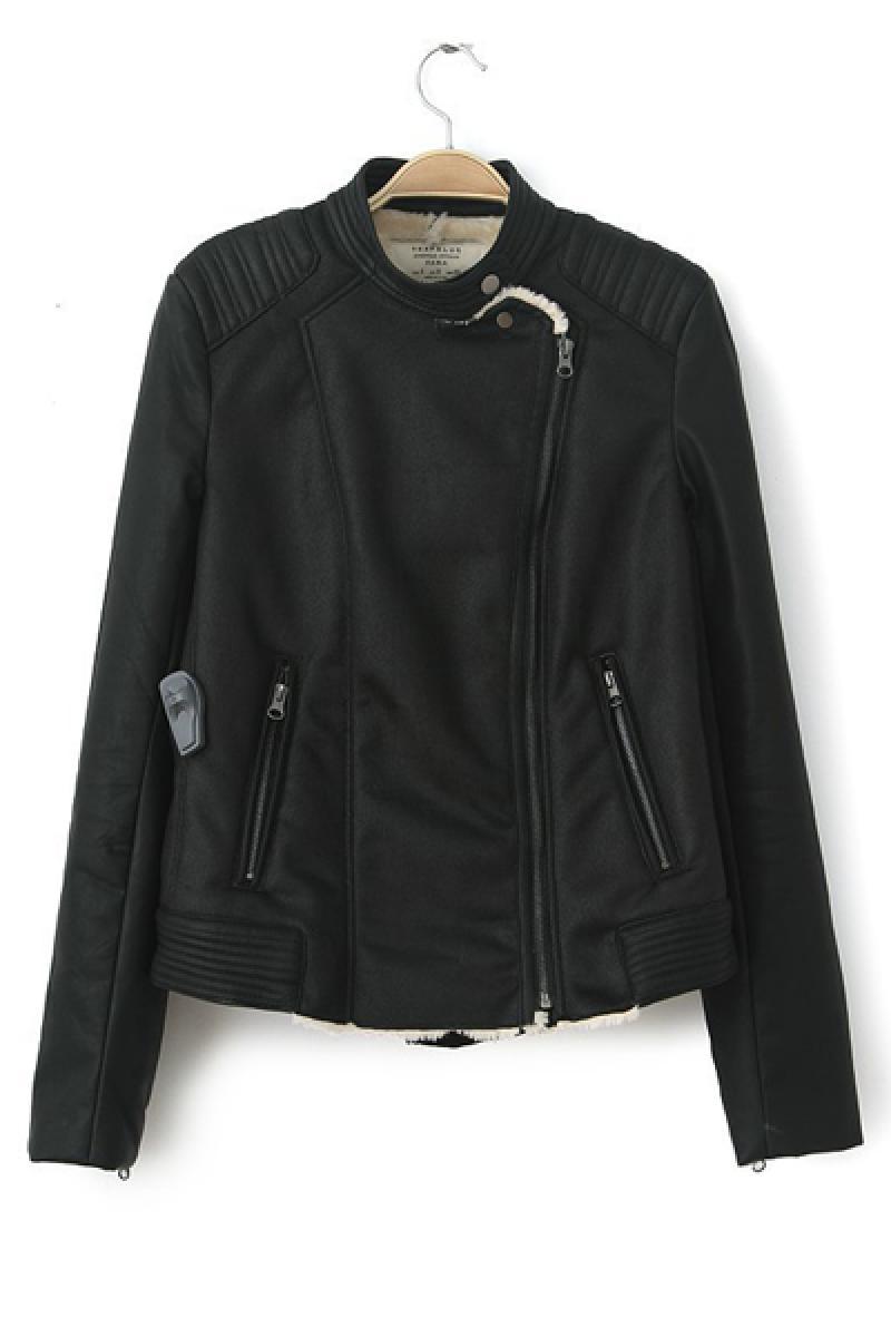 2013 Autumn & Winter New Section PU Fur Collar Short Jacke,Cheap in Wendybox.com