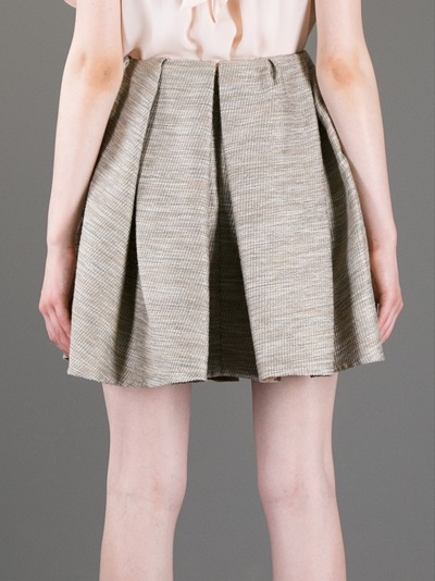 Carven Pleated Tweed Wrap Skirt - Stylesuite - Farfetch.com