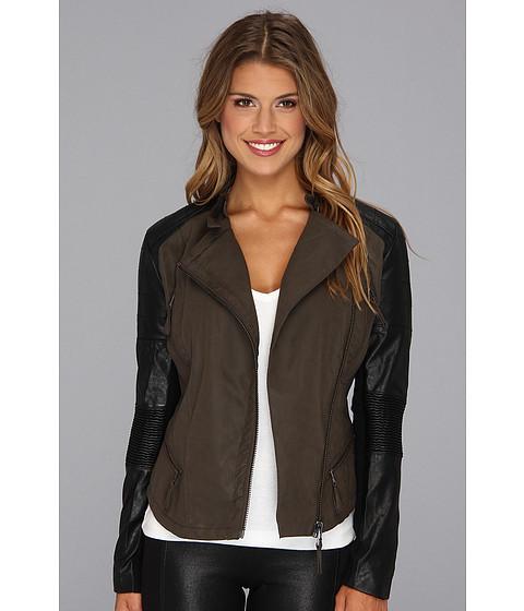 Blank NYC Vegan Leather Two-Tone Moto Jacket in Peg Boy Peg Boy - Zappos.com Free Shipping BOTH Ways