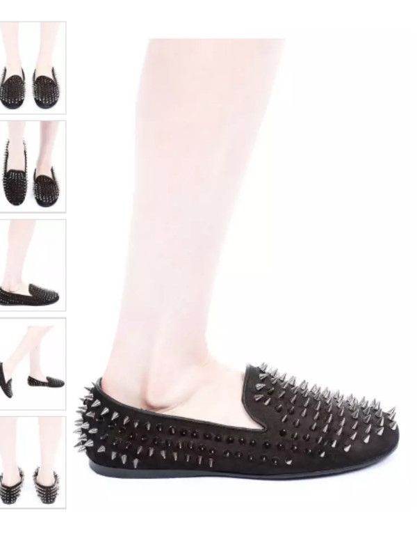 shoes like lookalike spikes black cute beautiful loafers findit studded shoes smoking slippers