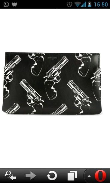 bag clutch black gun clutch pop gun clutch gun blackless comics saint laurent
