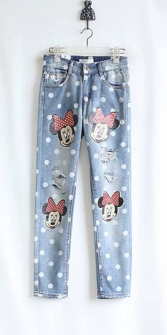 jeans pants dotted diy