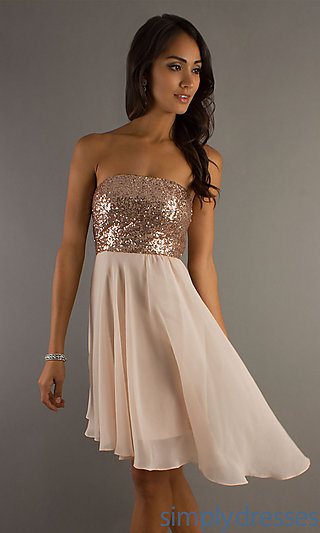 Sequin High Low Dress, Hi Lo Sequin Party Dress - Simply Dresses
