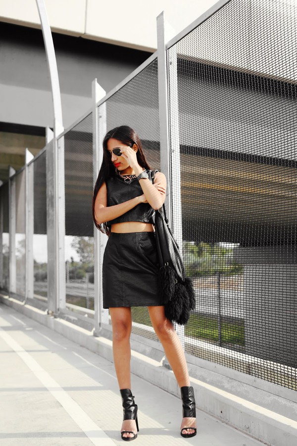 inside in inside out top skirt shoes jewels sunglasses bag sweater