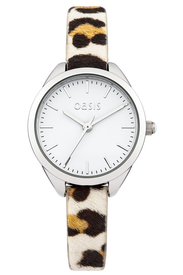 Leopard Pony Skin Watch | Natural | Oasis Stores