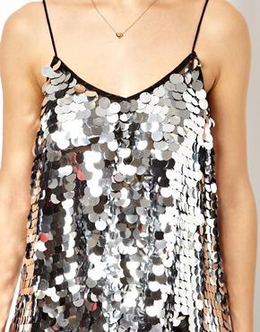 ASOS | ASOS Cami Top in Disc Sequins at ASOS