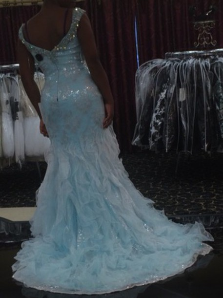 dress light blue dress cinderella gowns