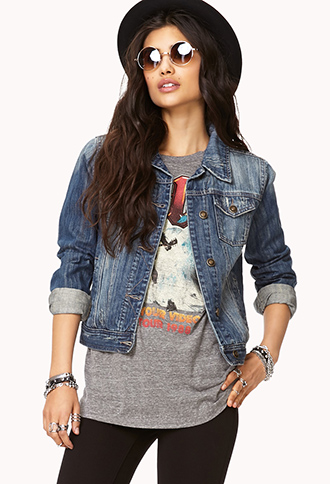 Distressed Denim Jacket | FOREVER21 - 2058599429